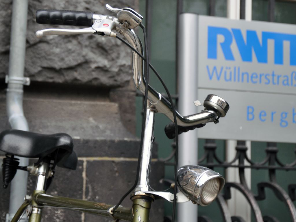 Bike in front of RWTH building