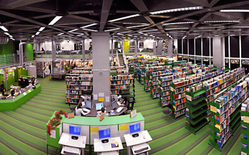 inside the medical library