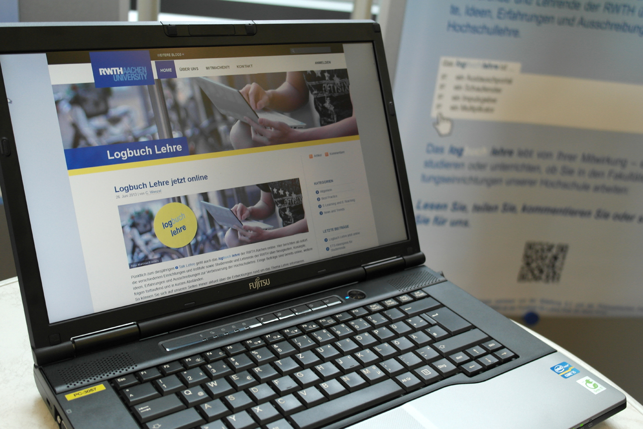 Logbuch Lehre blog on a computer screen