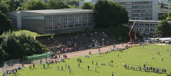 View of Köngishügel during Sports Day